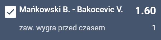 Mańkowski - Bakocević typy bukmacherskie